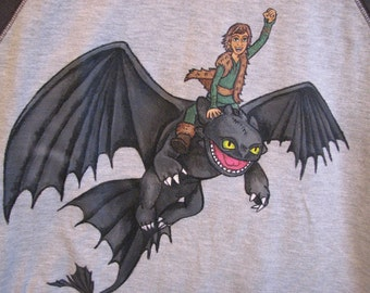 Custom painted how to train your dragon clothing shirt sizes 2,2t to
