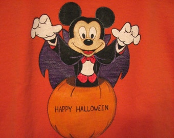 Custom Disney clothing Painted  Mickey, with a name in it  Halloween shirt Choice of sizes 12 - 24 m, 2T/2 - 12
