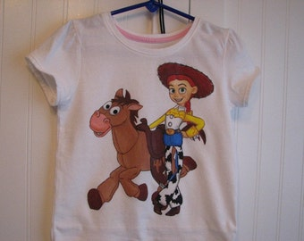 Disney clothing custom painted Toy Story,  shirt choice of character - Sizes 6 to 24 months - 2T to 12 teen