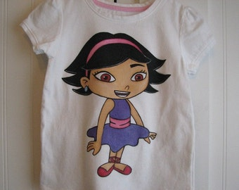 Custom Painted Disney Clothing Little Einsteins shirt  24m 2T/2 to 12