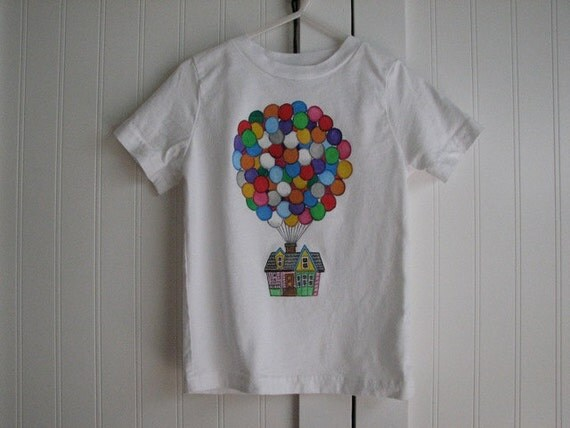 Custom Disney Clothing  Up Balloon House shirt long or short sleeve sizes 12 m to 24  m, 2 to 12