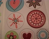 hearts and blooms stickers and shapes