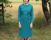 Dark Teal Wool Blend Knit Dress