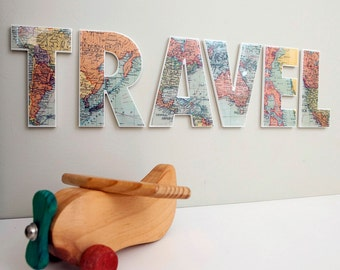 TRAVEL wall art word
