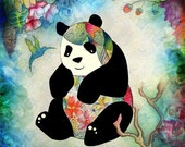 8x11 inches Print - The Lonely Panda