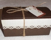 Vintage math BROWN BOX KIT Christmas packaging wrap cookies soap gift recycle 3