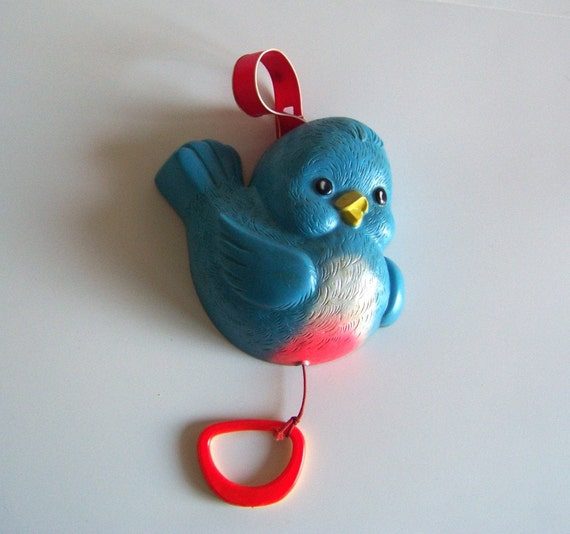 Vintage Bluebird Musical Nursery Toy By Fisher Price