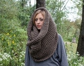 The Yukon Cowl... Long Warm Infinity Scarf in Barley