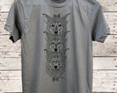 Wolf Totem || mens t-shirt, wolf shirt, wolves, totem, gifts for him || by Simka Sol