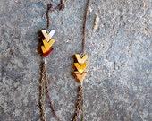 Arrow Necklace - Mookaite - by Bark Decor