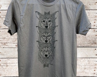 Wolf Totem - mens t-shirt - by Simka Sol