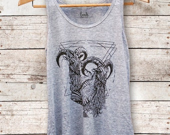 On Sale - Mt Kenya || Unisex Triblend Tank, unisex tank top, jersey tank top, printed, nature lover tank top, oversized tank || by Simka Sol