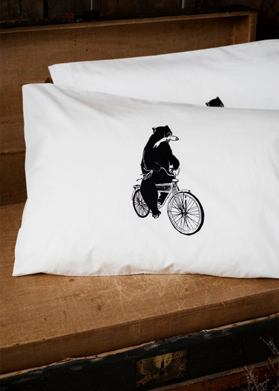 Commandeered By Wilderness - Hand Screen Printed Pillow Case Pair