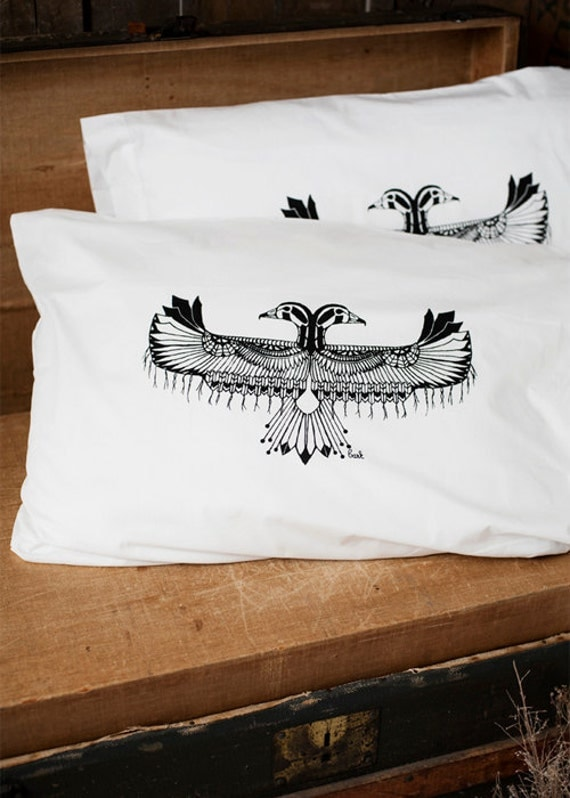 Reverie - Hand Screen Printed Pillow Case Pair - 200TC - by Simka Sol