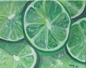 Lime 11X14 Original Acrylic Painting