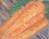 Custom Carrot and Grapefruit paintings RESERVED FOR SBEARMAT