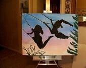 SOLD-Custom Listing of Flying High-40X30 Original Painting for Linda Milvain SOLD