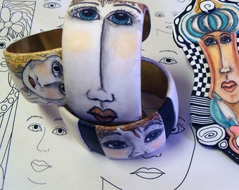 Face Patterns for Pen and Ink on Polymer Clay