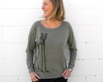 Dali Wolf Slouchy Shirt *NOTE: This item is now Grey