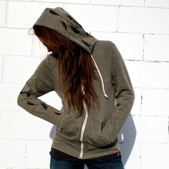 Dreamweaver and Feathers Zip Hoodie NOTE: this item is now grey