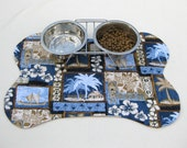 SALE Pet Placemat Tiki Summer SALE