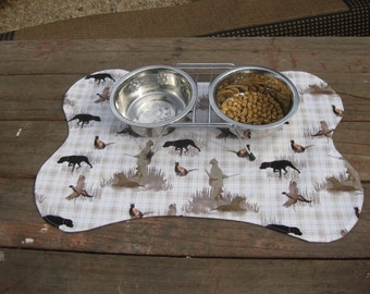 Dog Mat Placemat Black Labrador Retrievers