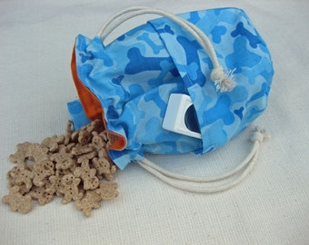 Dog Training Treat Bag Bait Bag Blue Bone Camo