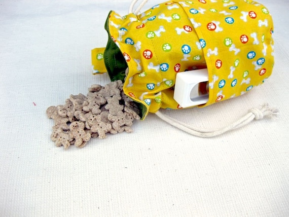 Dog Training Treat Bag Yellow Bones