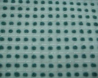 Dark Green Pops with Silver Morgan Jones Vintage Chenille Fabric