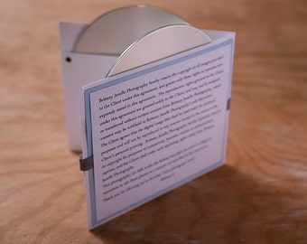 Custom DOUBLE  cd sleeve/holder for digital photography business ANY COLORS (pack of 12}