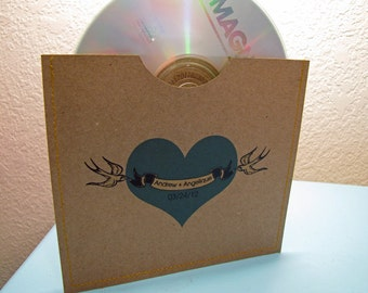 Personalized cd sleeve wedding favor ANY COLOR {pack of 200}