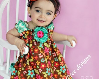 Sweet Nothings Dress in your choice of size 6m-9m, 9m-12m, 12-18m,18-24mos.,2t, or 3t