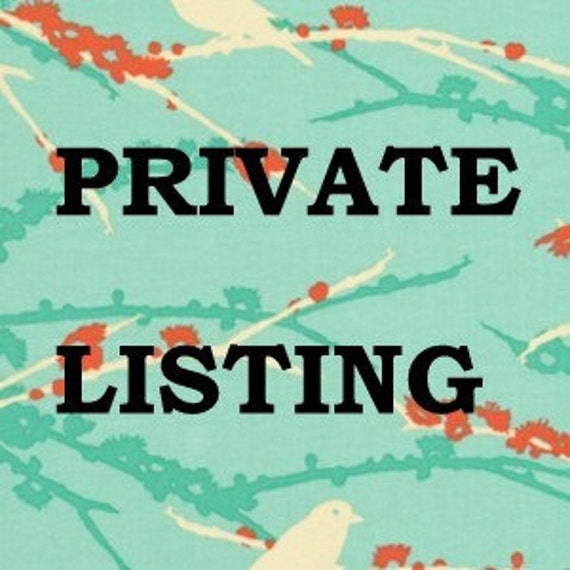 Private Listing for Etsy member pottershouse Only