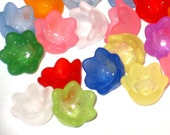 120 Mixed Tulip Bell Acrylic Flower Beads - Lil' bit of Everything -10mm