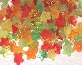 100 Acrylic Flower Beads - Fruit Salad - 9mm