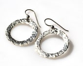 Simple Hammered Circle Hoops / Circles