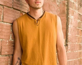 Men's Sleeveless Shirt Hemp and Organic Cotton