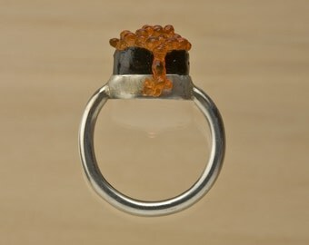 Ikura Tobiko Silver Ring