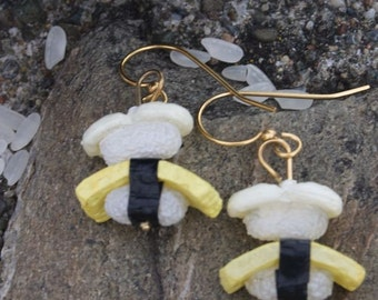Scallop and Tamago Sushi Earrings