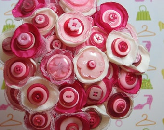 24 strand PINK STRAWBERRY BUTTON bouquet