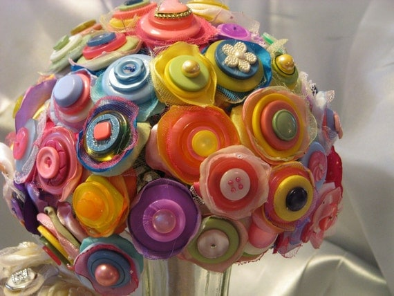 Reserved for eveeve12  CANDY BUTTON BOUQUET