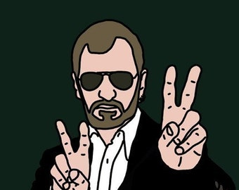 Ringo Starr Mini Art Print