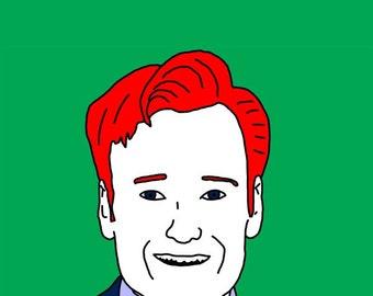 Conan O'Brien Mini Art Print