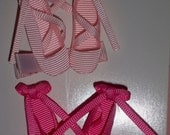 BOUTIQUE  BOW ,  PRINCESS BALLET SHOES LIGHT PINK, HOT PINK YOU CHOOSE