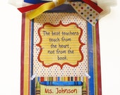Teacher Gift Personalized Clipboard Retro 2 sided
