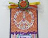Personalized Decorated Clipboard Peace Love and Happiness