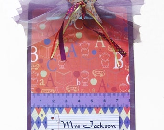 Teacher Gift Decorated Personalized Alphabet Clipboard