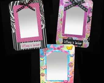 Girls Locker Mirror Personalized Magnetized Board