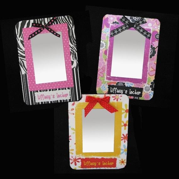 Girls Locker MIrror Personalized Magnetized Board