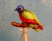 Glass Love Bird Beads